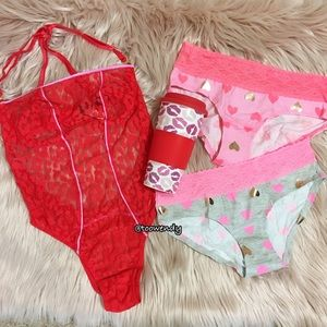 VS Valentine Teddy, Coffee Mug, & 2 Panty Gift Set